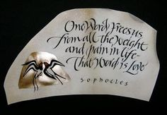 Georgia Angelopoulos ~ Sophocles ~ calligraphy
