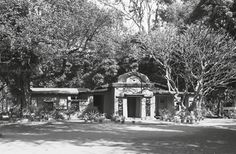 Shyamali, Santiniketan, West Bengal, India. Unusual mud house at in which Surendranath Kar translated Tagore's vision from his poem of the same name. Photo: Samit Das, 1994. From Architecture of Santiniketan, courtesy of Nyogi Books Mud House, Rabindranath Tagore, Word Meaning, West Bengal, Book Design, Poem, Sketches, India, Landscape