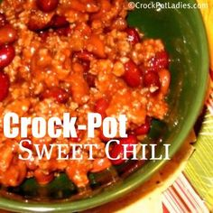 Crock-Pot Sweet Chili Recipe