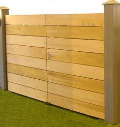 portail coulissant plein en bois lames verticales magny en vexin 95 ext rieur pinterest. Black Bedroom Furniture Sets. Home Design Ideas