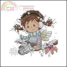 ` Cross Stitch Fairy, Cross Stitch Pillow, Cross Stitch For Kids, Cross Stitch Rose, Cross Stitching, Cross Stitch Embroidery, Cross Stitch Patterns, Stitch Doll, Christmas Embroidery