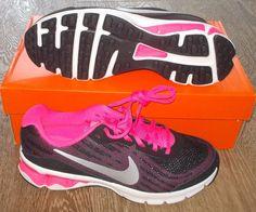 NEW NIKE REAX RUN 9 Womens 6.5 (5Y) Black HYPER PINK Running NIB #Nike #Athletic