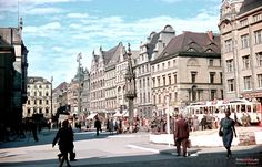 1944 , Ostatnie chwile Breslau Genius Loci, Beautiful Buildings, Homeland, Old Photos, Funny Pictures, Germany, Street View, Black And White, City