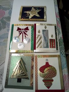 some of my Iris Fold cards for Christmas
