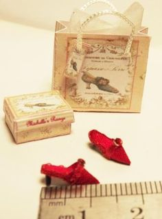 Tiny silk shoes in scale Dollhouse Miniatures, Shoe Boots, Scale, Shops, Range, Dolls, Business, Leather, Crafts