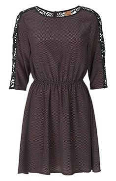 Lace Shoulder Dress by Oxmo