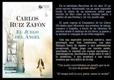 El juego del ángel. Carlos Ruiz Zafón. EduRead: #RecomiendoLeer @davidgscom Book Reviews, Writing A Book, Recommended Books, Writers, Author, Games