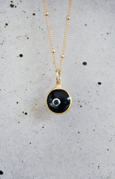 black evil eye chain