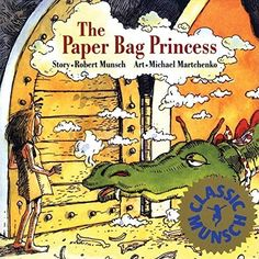 The Paper Bag Princess by Robert Munsch. A family favorite that she read for the first time today, 2/11/17 and it took 12 minutes.