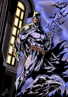 Batman by Renato Camilo, Inks and Colours by CB. by CB-ComicArt on deviantART
