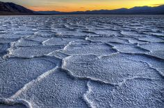 Bad Water Sunset Death Valley Photograph