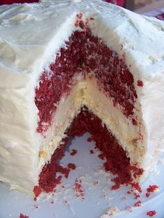 red velvet cheescake cake