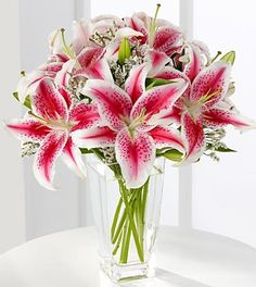 FTD Pink Lily Bouquet - Stargazer Lily Bouquet, Pink Bouquet, Calla Lily, Bouquet Flowers, Flower Vases, Prom Flowers, Wedding Flowers, Wedding Bouquets, Lily Wedding