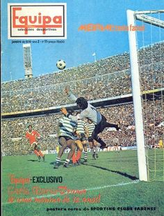 Equità magazine in Jan 1976 featuring Benfica v Sporting Lisbon on the cover.