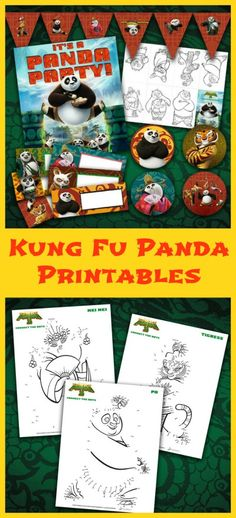 Kung Fu Panda 3 Printables - Print these fun Kung Fu Panda party printables, activity sheets and more! Panda Birthday Party, Panda Party, 4th Birthday Parties, 3rd Birthday, Birthday Ideas, Fun Crafts To Do, Crafts For Kids, Asian Party Themes, Party Ideas