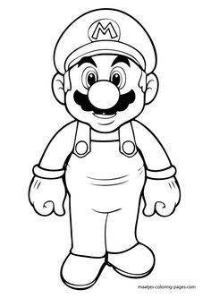 coloring pages that you can print | Dibujo para imprimir : Heroes para niños - Nintendo - Super Mario ...