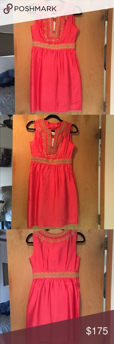 Never Worn Pink and Gold Kate Spade Dress New Kate Spade Pink Dress with Gold Detail kate spade Dresses Mini