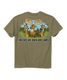 Love this Buck Wear Prairie Dust 'Eyes Down Here' Tee by Buck Wear on #zulily! #zulilyfinds
