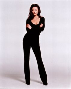 I dont care what people say black on black on black is just sexy. Id wear it everyday :) (Did I mention Catherine Zeta Jones is a fox?)