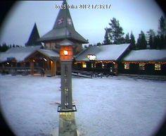 Joulupukin pajakylä webcam: Joulupukki, Rovaniemi, Lappi, Suomi