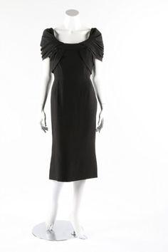 Silk Crepe Couture Dinner Dress, late 1950s  Pierre Balmain  via Kerry Taylor Auctions