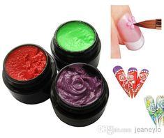 3D UV Sculpture Gel Colored Nail Art Tips Creative Manicure Decoration 5g