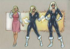 Black Cat Transforms - Animated Series by on DeviantArt Female Muscle Growth, Black Cat Marvel, Spiderman Art, Animation Series, Comic Art, Wonder Woman, Princess Zelda, Deviantart, Superhero