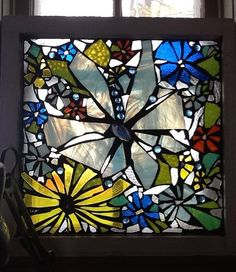 mosaic stained glass on old windows | Mosaic Stained Glass Window by AmazingMosaics on Etsy, ... | mosaics