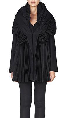 Yohji Yamamoto Pleats Muffler Jacket