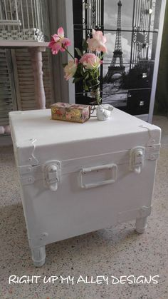 Trunk Coffee Table,shabby Chic Trunk Coffee Table,small Trunk Table,trunk  With