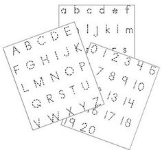 Little Piles Everywhere: ABC & NUMBER Trace. Gonna make a few copies and have him play with the hole punch Alphabet Writing, Preschool Literacy, Pre Writing, Preschool Printables, Alphabet Activities, Kids Writing, Craft Activities For Kids, Preschool Shapes, Preschool Alphabet