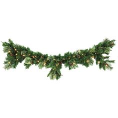 6 ft. Syracuse Cashmere Berry Artificial Mantel Garland with 70 Clear... ($30) ❤ liked on Polyvore featuring christmas