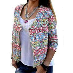 Saco Chaqueta Blazer Tipo Hindu Mujer - $ 510,00 en MercadoLibre