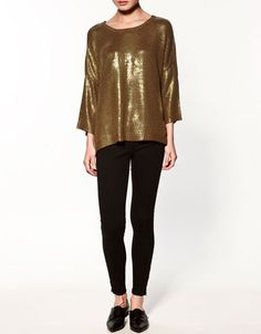 gold sweater $79.90