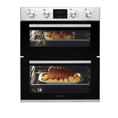 The Lamona built-under double fan oven offers flexible cooking with two separate oven compartments, and can be fitted under your kitchen cabinet. Stainless Steel Double Oven, Fitted Bathroom Furniture, Free Kitchen Design, Oven Canning, Energy Consumption, Kitchen Collection, Beautiful Kitchens, Cooking, Kochen