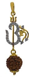 Buy now : Rudraksha with Ohm 18k Gold