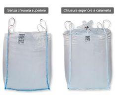 Big Bag sacconi industriali per macerie e rifiuti Big Bags, Bago, Large Bags, Large Handbags