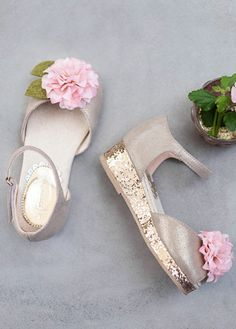 b24379fd38b Sparkles and Champagne colored shoes and dress!