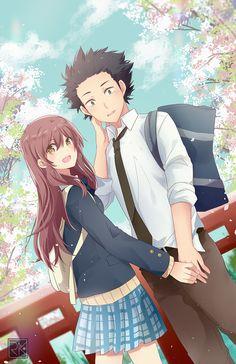 """Ishida Shouya"" ""Nishimiya Shouko"" Koe no katachi Anime Love, Sad Anime, Anime Guys, Otaku Anime, Anime Shojo, Anime Triste, Manga A Silent Voice, Kawaii Anime, Film Animation Japonais"