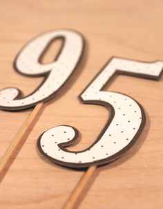 DIY cake topper numbers for a birthday cake.