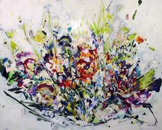 Jardin impossible III - Genevieve Pratte  Galerie Perreault  #Art #Artiste #Artist #Paysage #Quebec #GalerieDart #ArtGallery #Artwork #Painting #Peinture #abstractart #abstractpainting Artgallery, Decoration, Painting, Abstract, Artwork, Splash Of Colour, How To Paint, Toile, Landscape