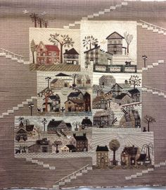 "At the 20th European Patchwork Meeting in Alsace, France, Quiltmania presented an exhibition called ""50 Variations of Yoko Saito's Mystery Q..."