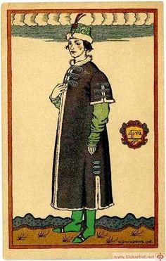 "Tsarevitch. Costume design for the opera ""Boris Godunov"" by Modest Mussorgsky - Iván Bilibin"