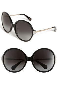Diane von Furstenberg 'Lais' Oversized Round Sunglasses | Nordstrom