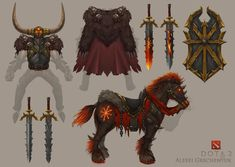 ArtStation - DOTA 2 Chaos Knight Set - Archaon Everchosen. Warhammer event… Armor Concept, Weapon Concept Art, Dota 2, Fantasy Armor, Medieval Fantasy, Character Art, Character Design, Total War, Warhammer Fantasy
