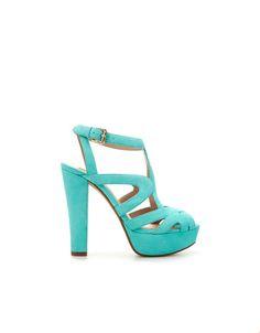 PLATFORM HEEL SANDAL - Shoes - Woman - ZARA