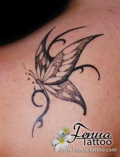 tatouage tribal papillon