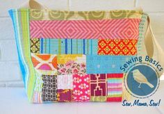 Sewing Basics ~ Patchwork Totes « Sew,Mama,Sew! Blog
