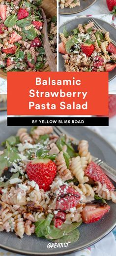 Balsamic Strawberry Pasta Salad