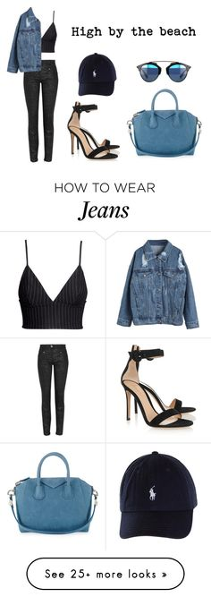"""""""High by the beach"""" by anaelle2 on Polyvore featuring Mode, H&M, Versace, Givenchy, Gianvito Rossi, StreetStyle, Dior, versace und StreetChic"""